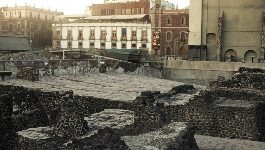 Templo Mayor Ruins and Excavation, Mazahua and Mixteca Tribal Lands